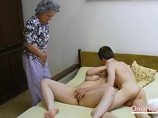 OmaHoteL Older Three-Way Furry Mature Getting Off