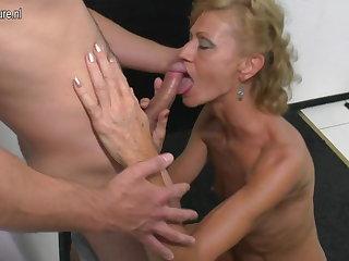 Son licks and fucks hot of age yowl his mom