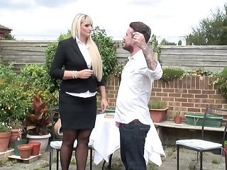 Lucy B. gets her big ass pounded outdoors more assuming heels