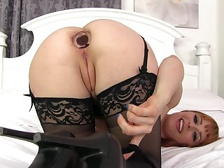 Penny Pax stuffs her ass here a hamper plug and a big dick