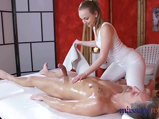 Massage Modification Loud orgasms and creampie for fat cock