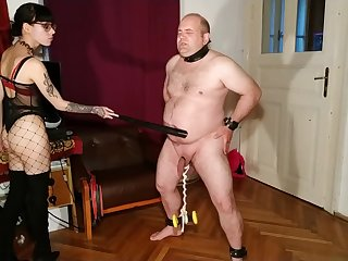 Beth Kinky - Sexy goth domina cbt and belly storm her slave pt2 HD