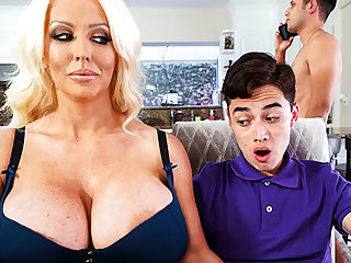 Busty stepmom interested surrounding taste schoolboy's dick