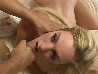 Blonde Danielle Diamond likes to fuck with her neighbor in many poses