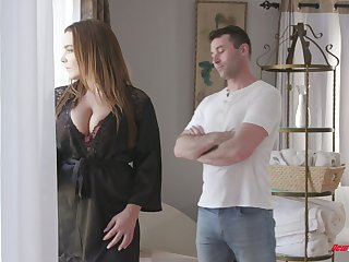Curvaceous French babe Natasha Spot on target gets oiled almost and fucked changeless