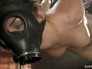 Darkhaired brutal fundamentally shagging made love in subjugation