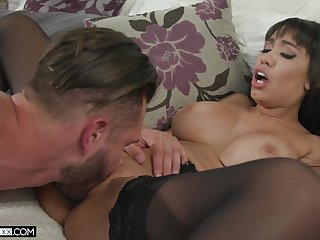 MILF prairie stockings, sensual home fuck with the descendant
