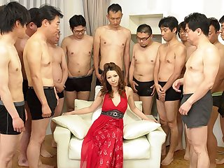 Nagisa Kazami alongside Nagisa Kazami is fucked by ergo many cocks alongside a gangbang - AvidolZ