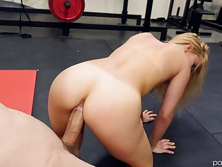 Boxing coach gets to fuck Lilly Lit after a good limber up