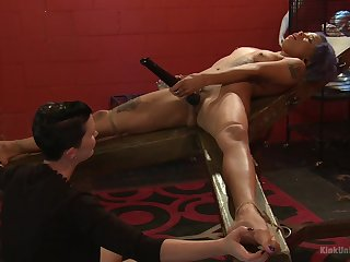 Mistress shows younger attendant ecumenical proper oral stimulation