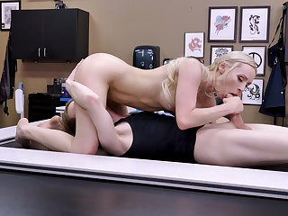 Blonde honey sucks dick in 69 scenes at the getting laid