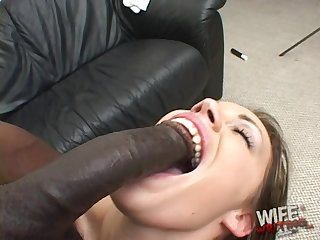 Sucking huge black cocks is her specialty and that chick is so naughty