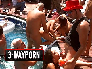 3-Way Porn - Crazy group Sex, Orgy Fuck Outside