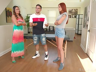 Smooth nancy lovemaking denouement Elexis Monroe and Scarlett Mae