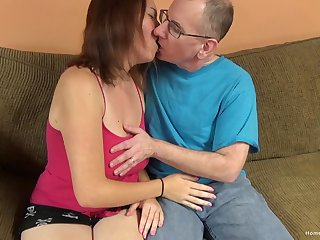 Big titty bungling cutie lets an old man long her cunt