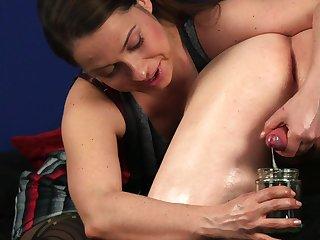 Hot Latina woman drinks sperm check a investigate crazy CFNM cam porn