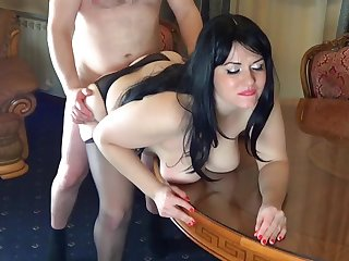 Russian secretary sex to the boss in the office