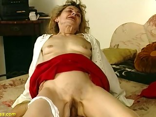 81 years old german granny gets rough and deep fucked unconnected with her horny boyfriend