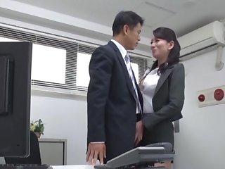 Video of foxy copier outsider Japan pleasuring her horny boss