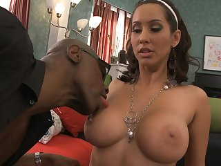 Busty babe Isis Love enjoys getting fucked at the end of one's tether a large black dick